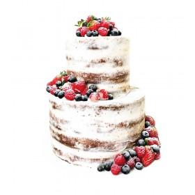 Торт свадебный двухъярусный  с ассорти из ягод