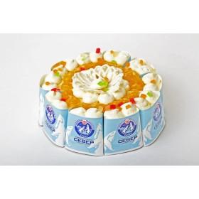 Торт Лёгкий йогуртовый с персиками