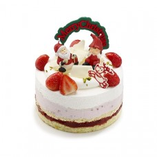 Торт  на Новый год  Дед мороз дарит подарки