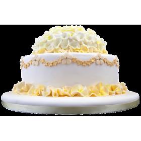 Торт украшенный цветками