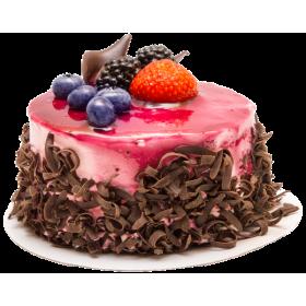 Торт праздничный с ягодам