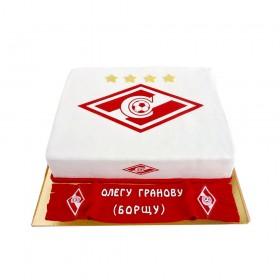 Торт праздничный для болельщиков спартака