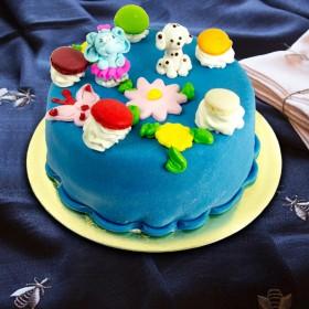 Торт Детский с цветочками 2