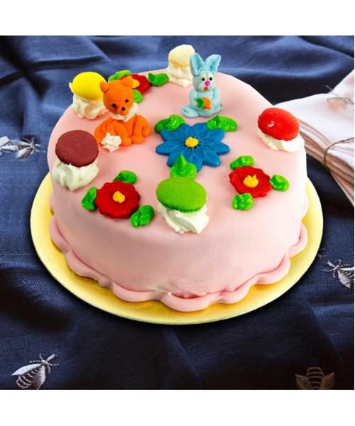 Торт Детский с цветочками