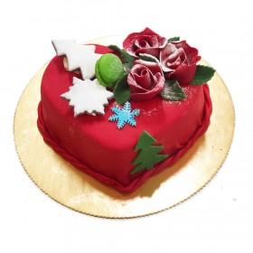 Торт Марципан сердце на Новый год