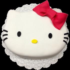 Детский торт Хэлло Китти с красным бантом