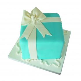 Детский торт в виде подарочной упаковки