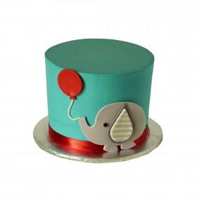 Торты на заказ слоник с воздушным шаром