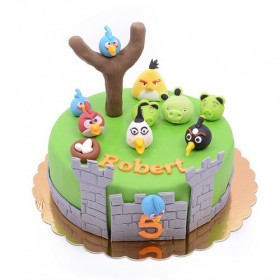 Детский торт Angry Birds 1