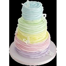 Детский торт в разнообразных цветах