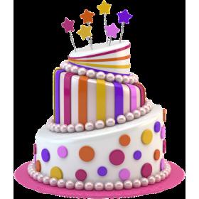 Детский торт разноцветный