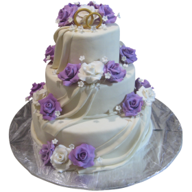 Торт Свадебный  модель 026